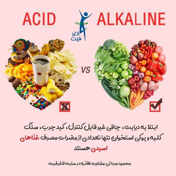 مضرات غذاهای اسیدی چیست